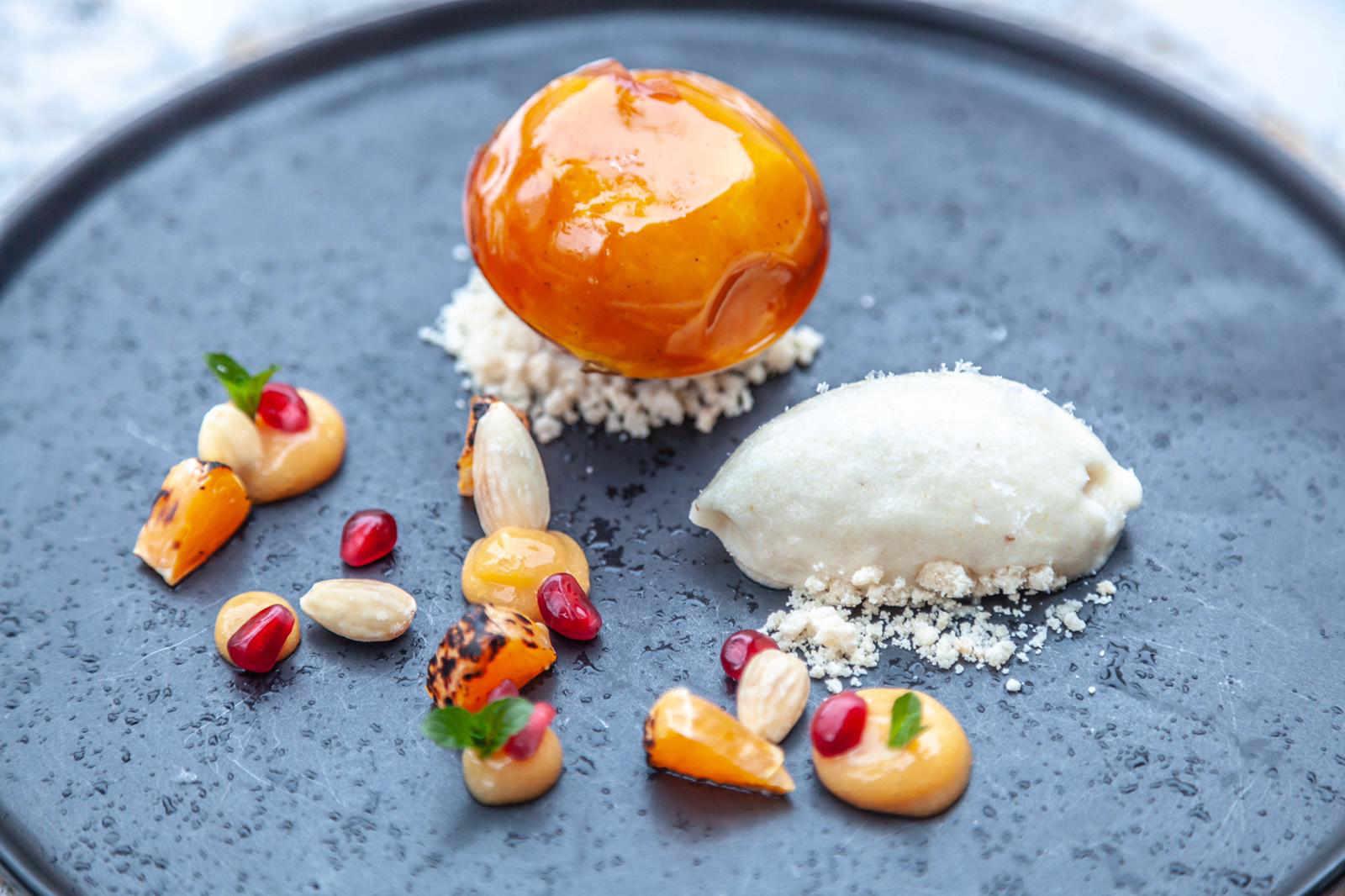 Creme Brulee - Gericht im Restaurant Valentin Lindau