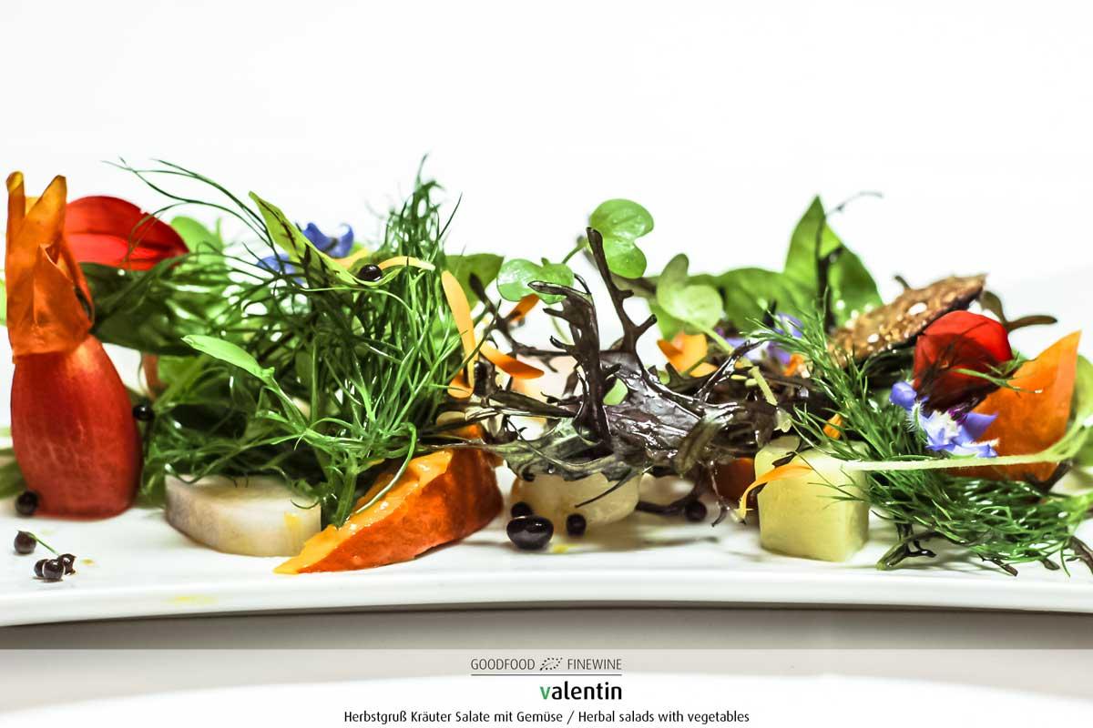 Herbstgruss-Kräuter Salat mit Gemüse