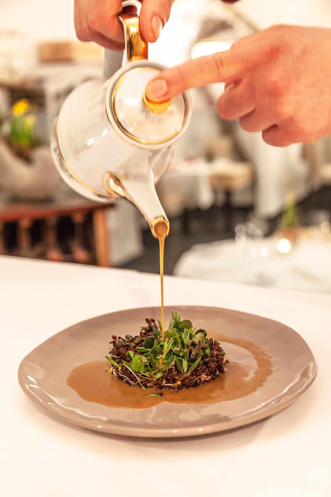 Kresse-Sprossen-Salat - Gericht im Restaurant Valentin Lindau
