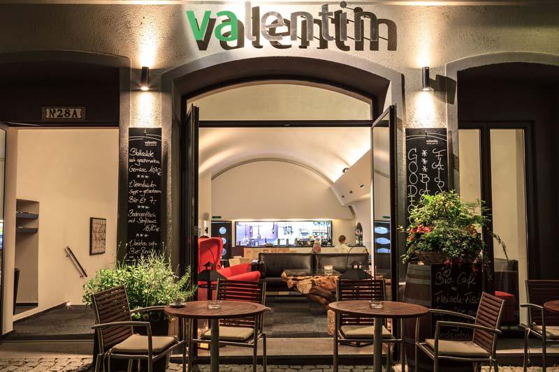 Blick auf den Eingangsbereich des Restaurant Valentin