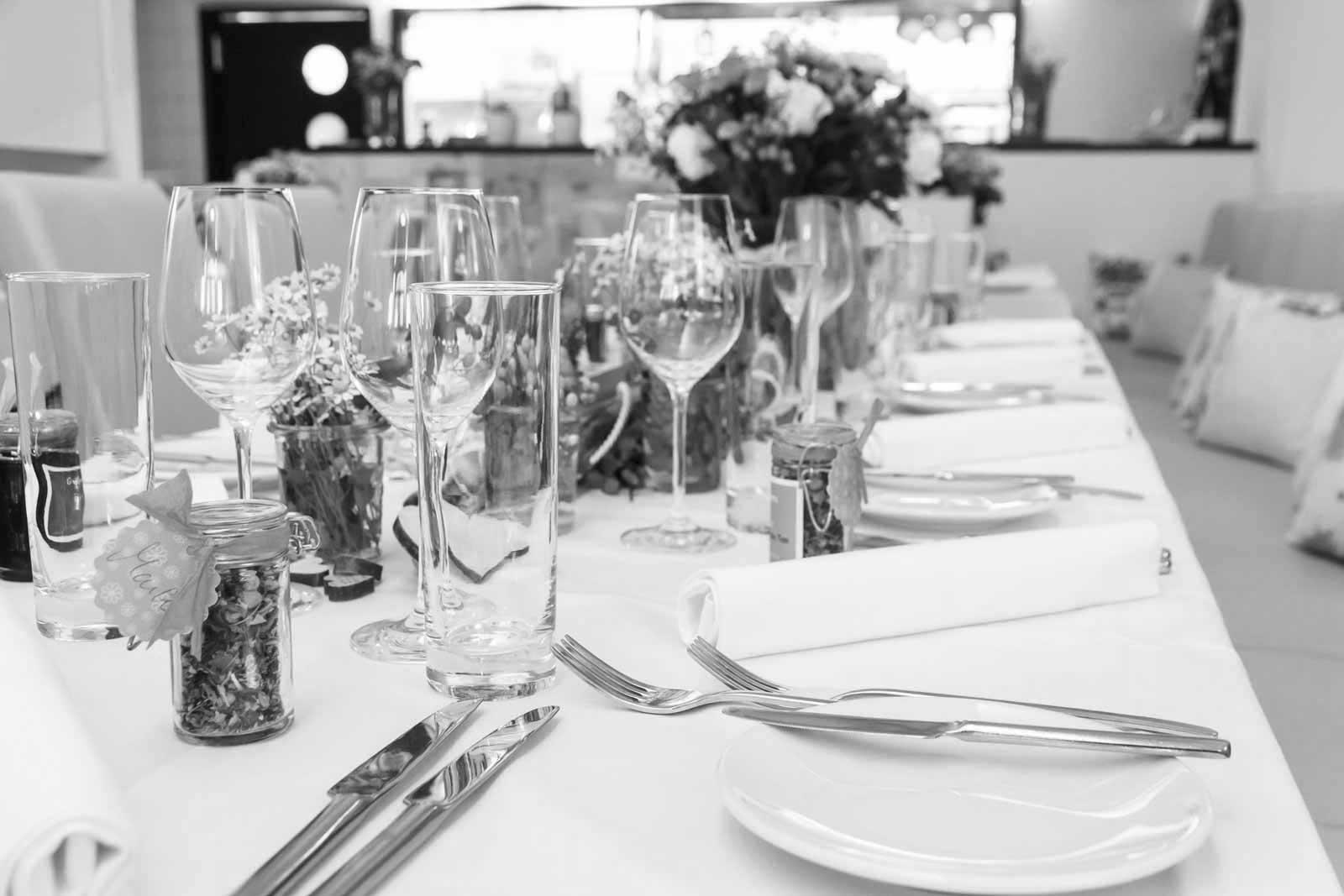 Restaurant Valentin Gedeckter Tisch