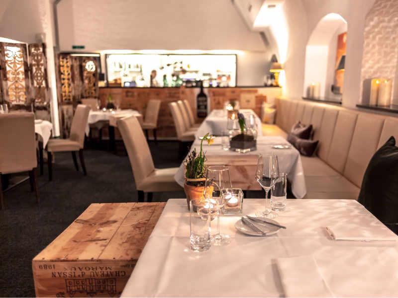 Gedeckter Tisch im Valentin auf der Lindauer Insel